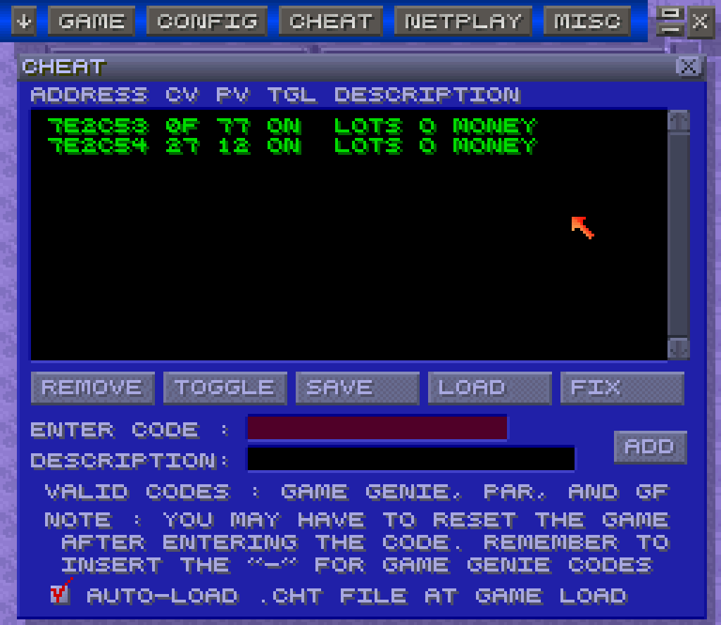 Game boy color game genie codes -  This Screen The Cheat Codes