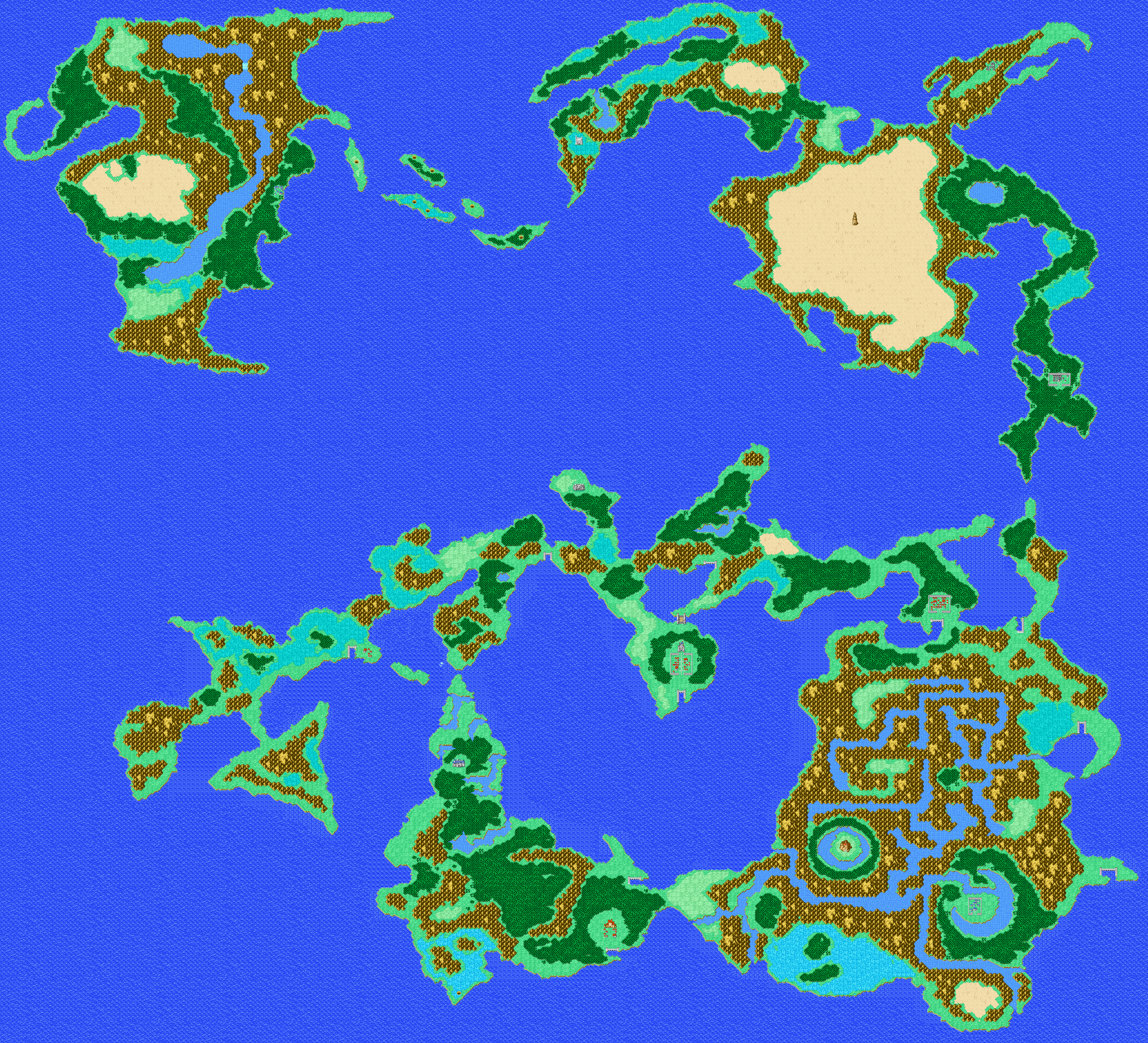 Final Fantasy Dawn of Souls for GBA Maps