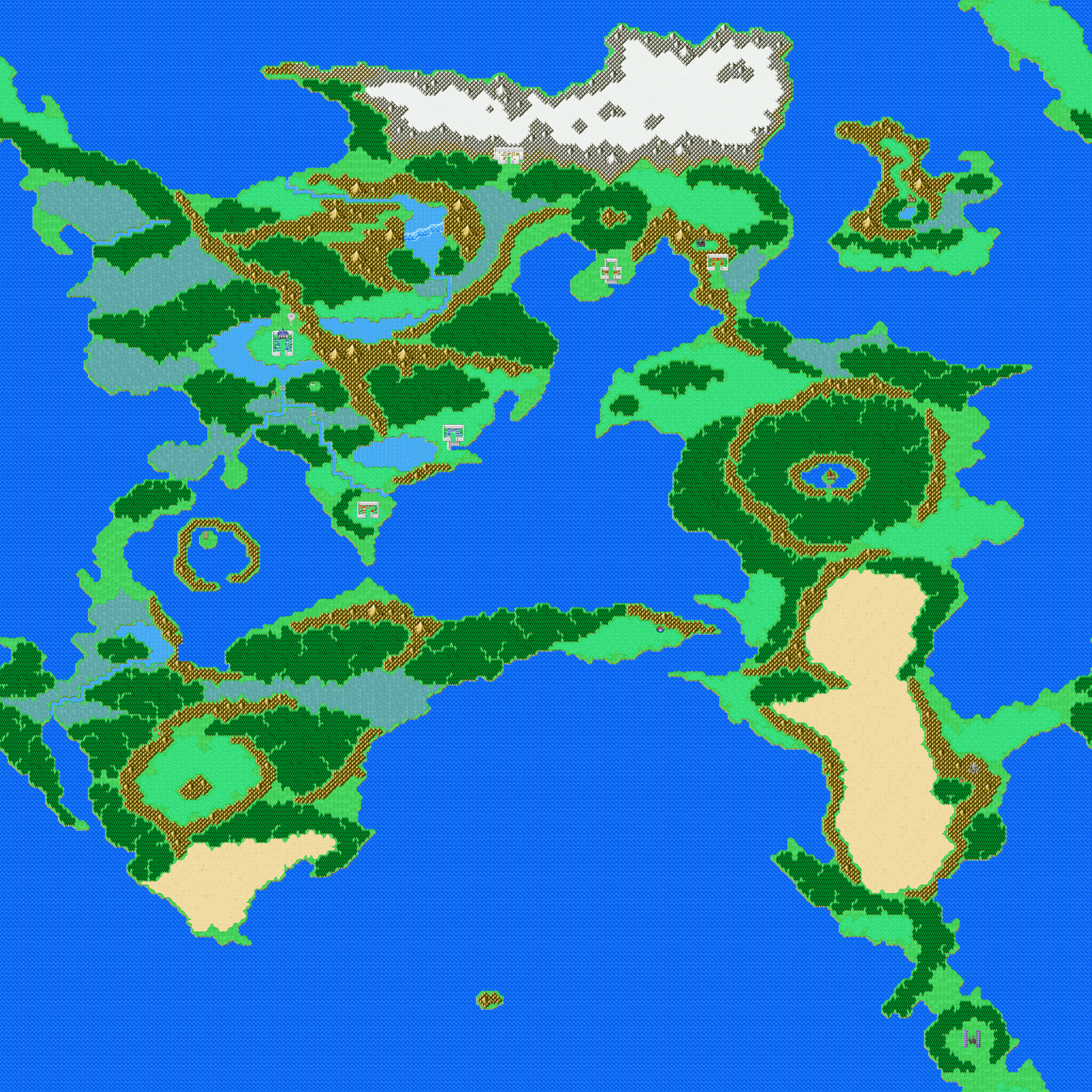 Final Fantasy: Dawn of Souls for GBA - Maps