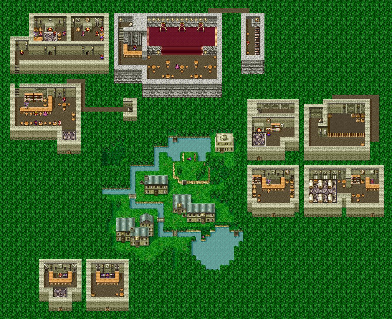 Final Fantasy 4 - Maps