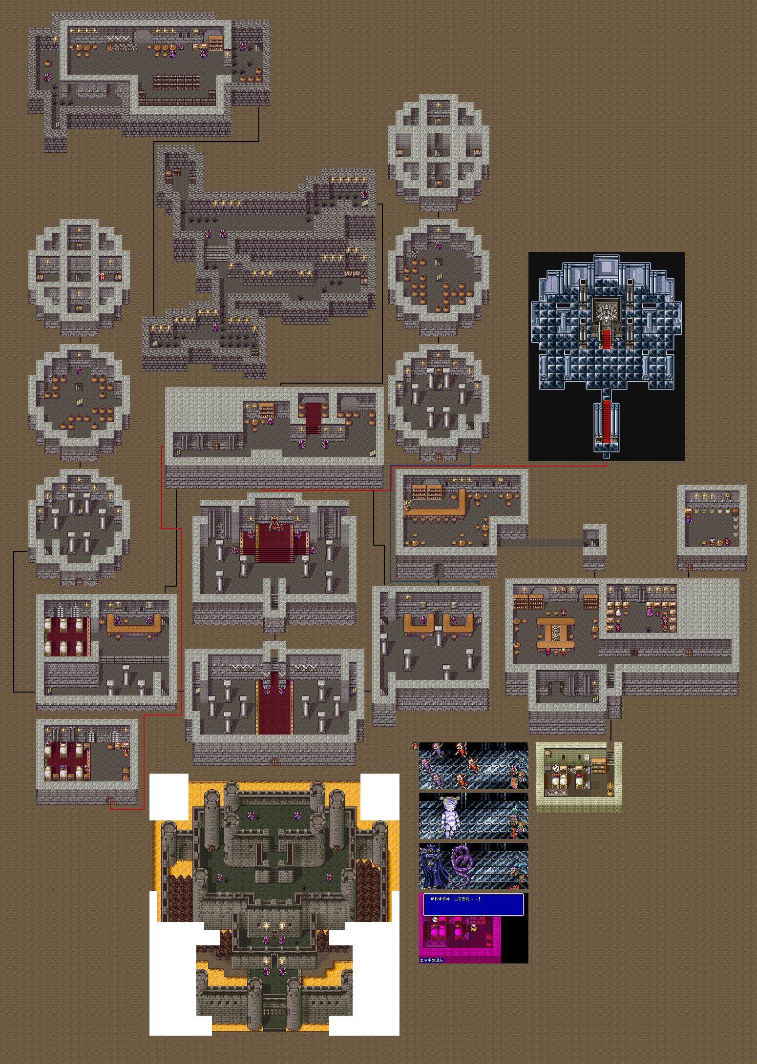 Final Fantasy 4 - Maps