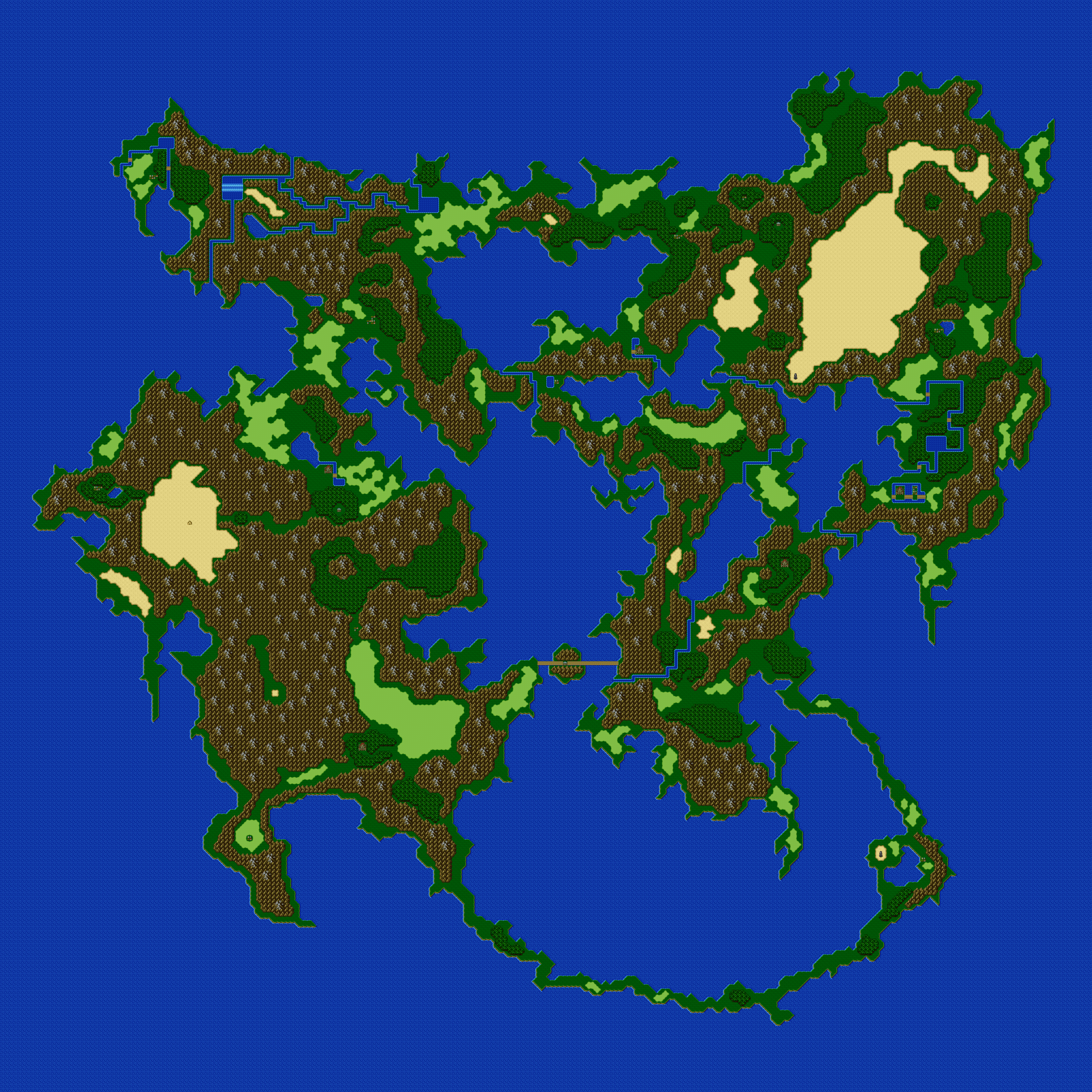 Final Fantasy 5 - World Maps