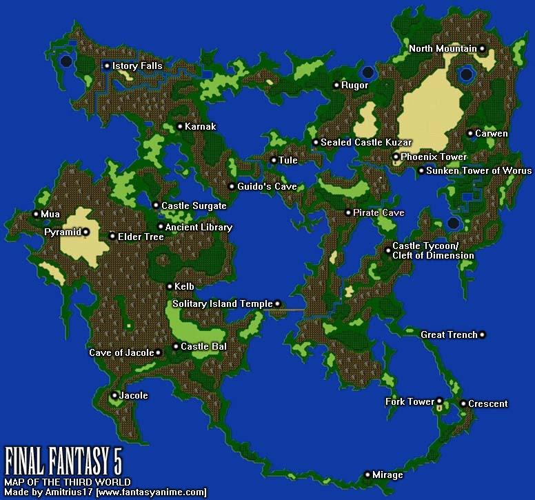 Final Fantasy 5 World Maps