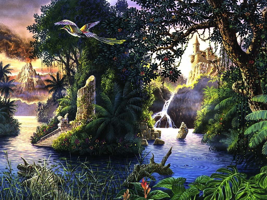 Fantasy Garden Animated Wallpaper