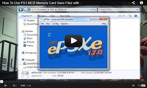 PlayStation 1 MCR Memory Card File Tutorial on YouTube