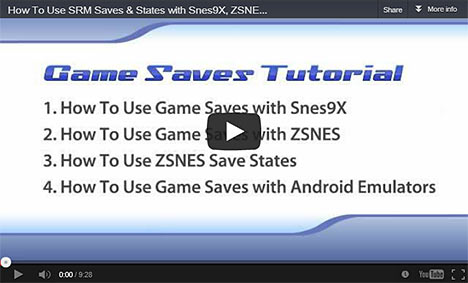 SNES Game Save Tutorial on YouTube