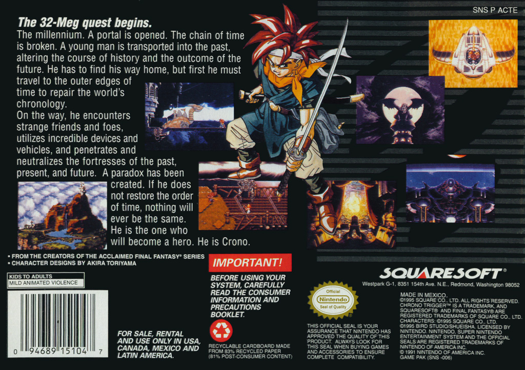 Chrono Trigger - About the Game