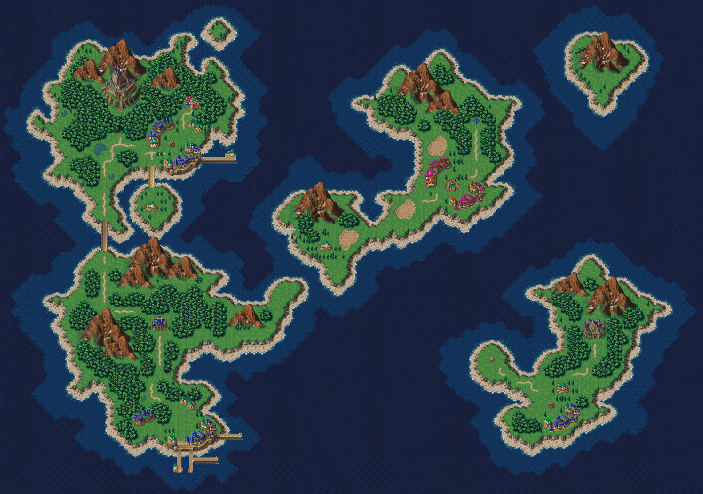Chrono Trigger World Map Chrono Trigger   Maps   World Maps