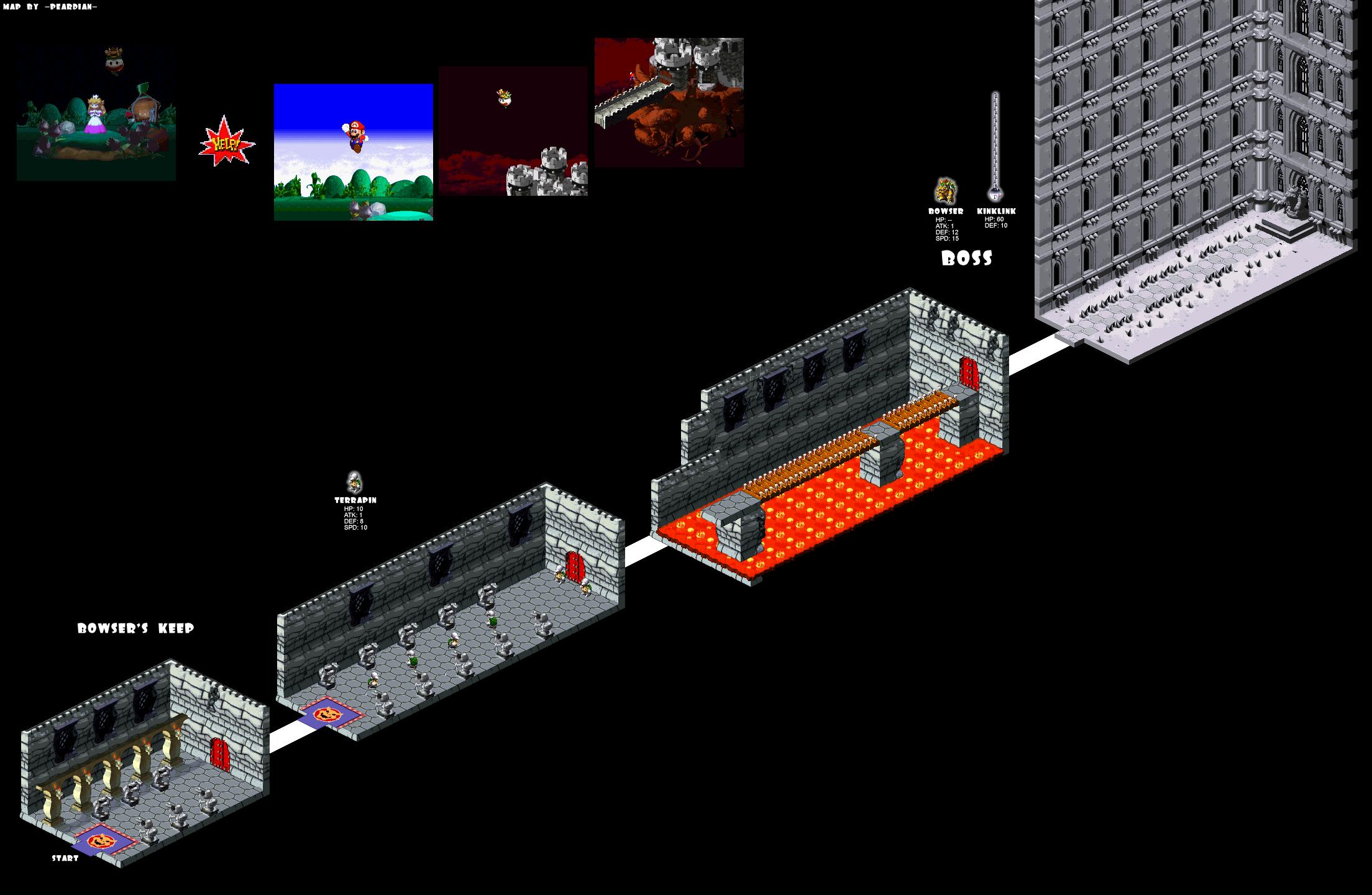 Super Mario RPG - Maps